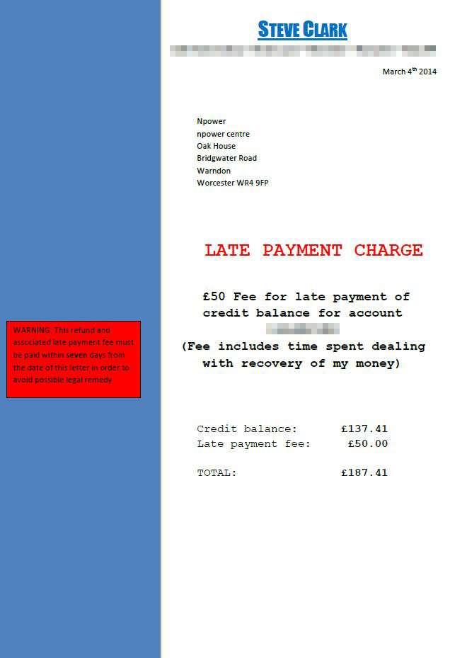 Late payment fee - Copy