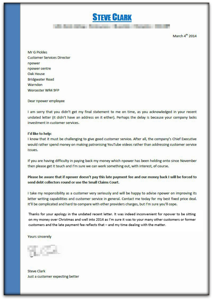 Letter to NPower - Copy-002